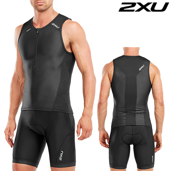 2XU 철인3종 경기복(투피스타입) Men's Perform Tri set MT4851a/MT4854b(Black)