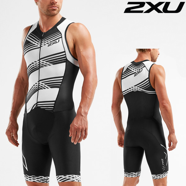 2XU 철인3종 경기복(원피스타입) Men's Compression Full Zip Trisuit MT5517d-BLK/BWL