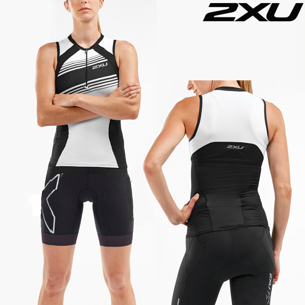2XU 철인3종 경기복 Women's Compression Tri set WT5523a/WT5524b-BLK/BWL