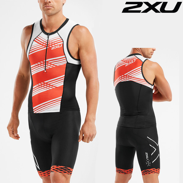 2XU 철인3종 경기복 Men's Compression Tri Set MT5519a/MT5520b-BLK/WFL