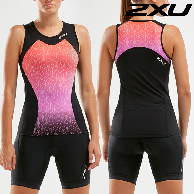 2XU 여성 철인3종 경기복 투피스 Women's Active Tri Set WT5547a. WT4868b BLK/STO