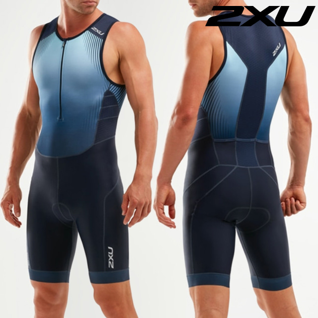 2XU 남성 철인3종 경기복 원피스 Men's Perform Front Zip Trisuit MT5526d MDN FMB