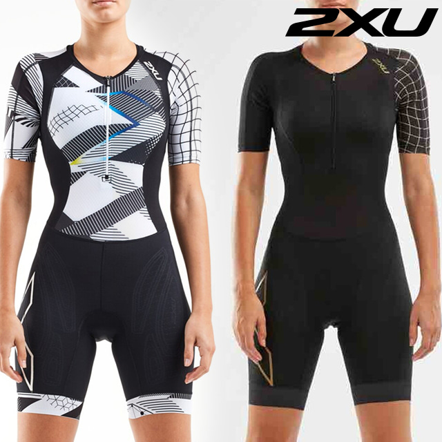 2XU 여성 철인3종 경기복 원피스 Women's Compression Sleeved Trisuit WT5521d