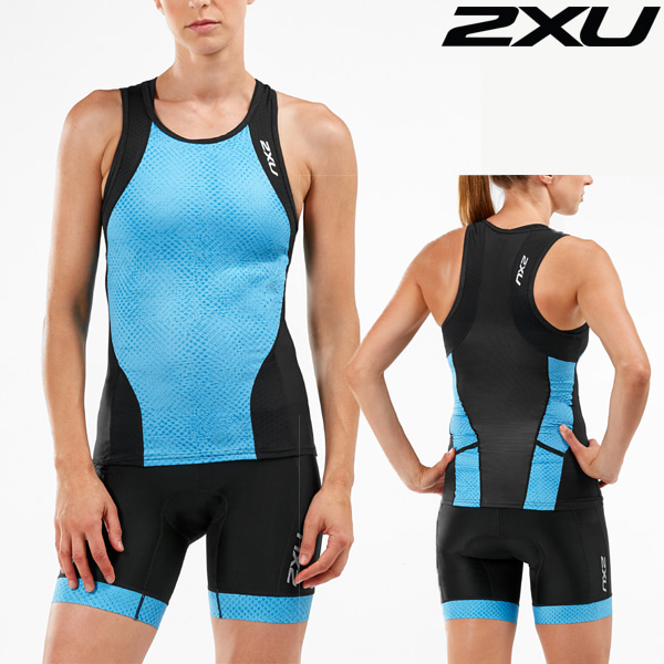 2XU 철인3종 경기복 Women's Perform Tri Set WT5536a/WT5538b-BLK/AQM