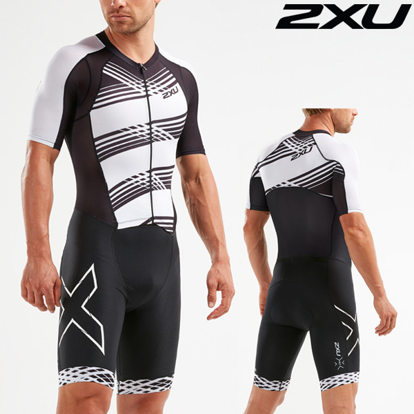 2XU 철인3종 경기복(원피스타입) Men's Compression Full Zip Sleeved Trisuit MT5516d-BLK/BWL