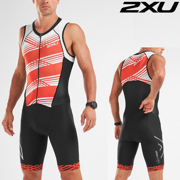 2XU 철인3종 경기복(원피스타입) Men's Compression Full Zip Trisuit MT5517d-BLK/WFL