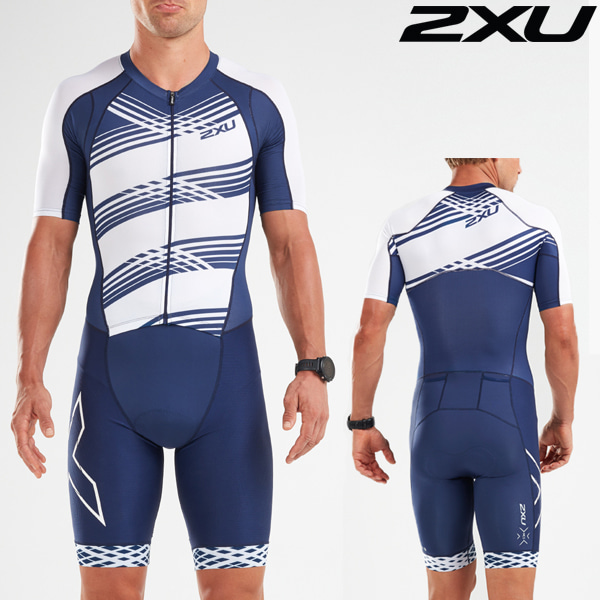 2XU 철인3종 경기복(원피스타입) Men's Compression Full Zip Sleeved Trisuit MT5516d-NVY/NWL