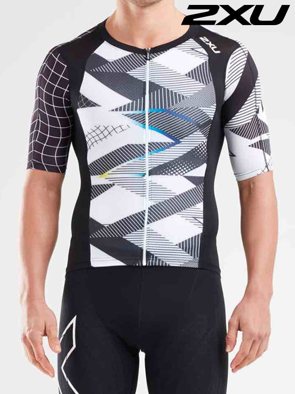 2XU 남성 철인3종 경기복 상의 Men's Compression Tri Top MT5518a BLK CRO