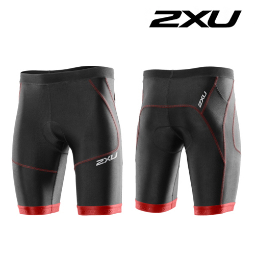 "아울렛 2XU(투엑스유)철인3종 경기복  2XU Men's Perform 9"" Tri Short (MT2704b) Black Scarlet"