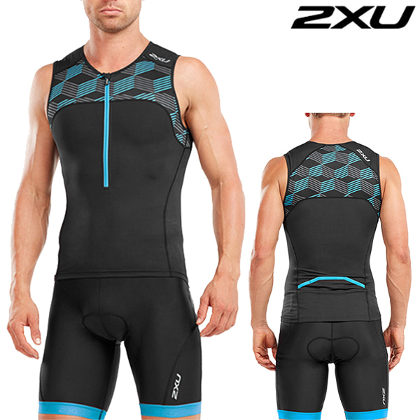 2XU 철인3종 경기복 Men's Active Tri Set MT4863a/MT4864b(Black/Bule)