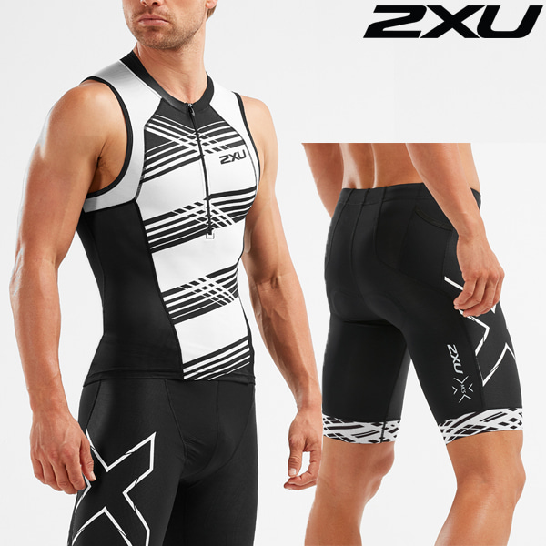 2XU 철인3종 경기복 Men's Compression Tri Set MT5519a/MT5520b-BLK/BWH